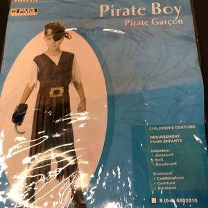 Pirate boy childrens coatume size large